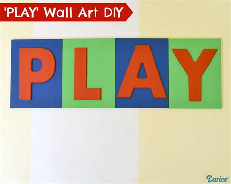 Playroom Wall Decor by Playroom Decor Diy Painted Wood Letter Canvases