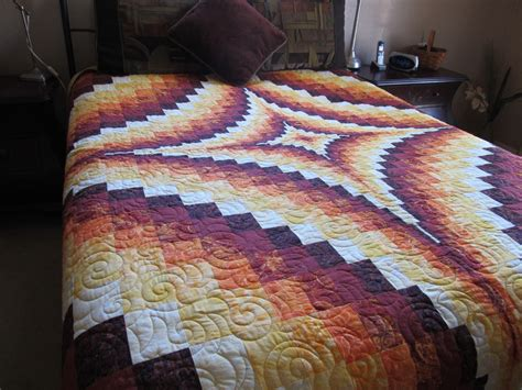 Bed Quilts Size by King Size Bargello Trip Around The World Bed Quilt