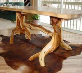 Natural Wood Dining Room Tables by Log Cabin Dining Table Rustic Furniture Mountain Design
