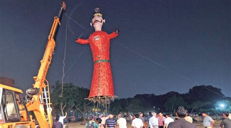 dussehra tallest effigy in chandigarh set to burn the