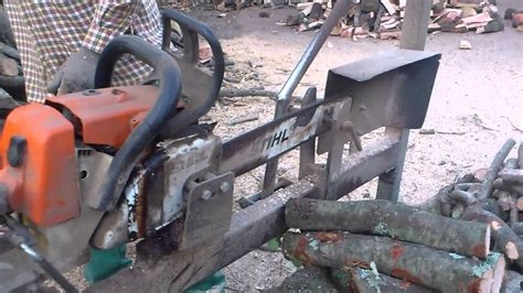 firewood saw bench can cervera montseny firewood processing on chainsaw