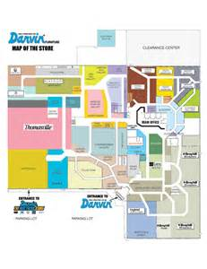 Store Map Darvin Furniture Orland Park Chicago Il