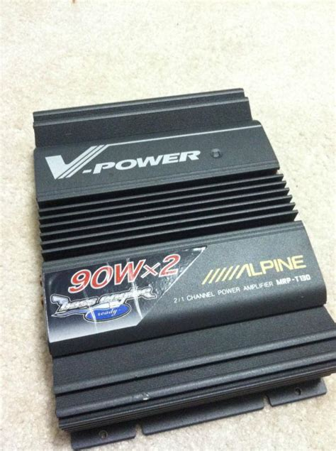 Power Lifier Alpine purchase alpine v power 2 1 channel power mrp t130 motorcycle in battle ground washington
