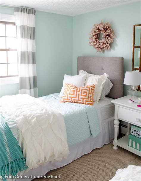 sophisticated teenage bedroom sophisticated girls bedroom teen makeover light green