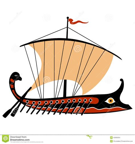 cartoon greek boat boat clipart ancient greece pencil and in color boat