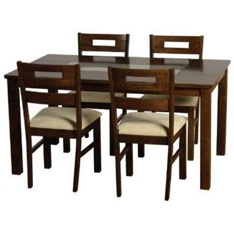 dinner table set dark wooden dining table set homehighlight co uk