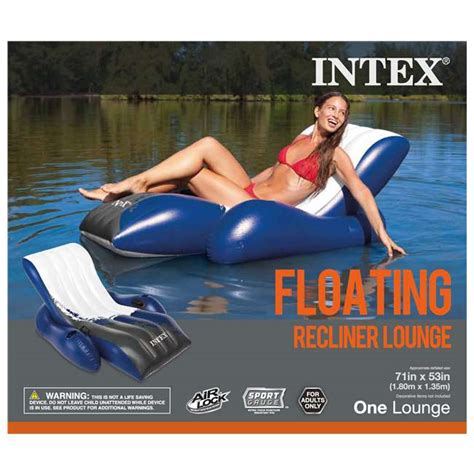 Intex Floating Recliner Lounge Intex Floating Recliner Lounge 3 Pack W Fill Air 3 X 58868ep 66619e