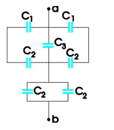 calculate capacitor q calculate the equivalent capacitance between point chegg