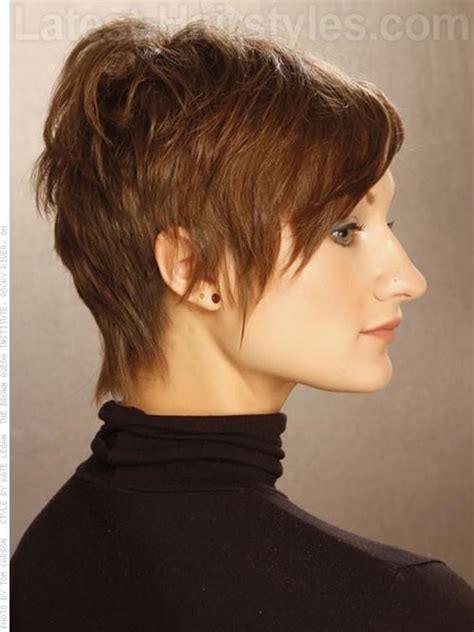 pixie cut with long wispy back and sides side and back view of pixie haircuts
