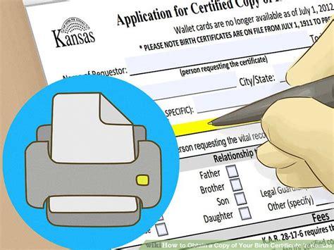 Vital Records Kansas Birth Certificate 4 Ways To Obtain A Copy Of Your Birth Certificate In Kansas