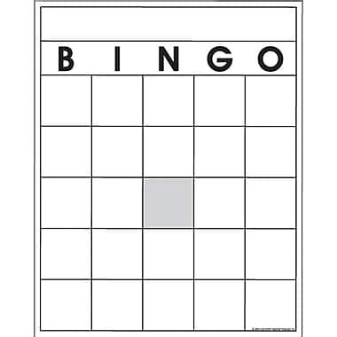 free blank bingo card template for teachers top notch products 174 blank bingo card staples 174