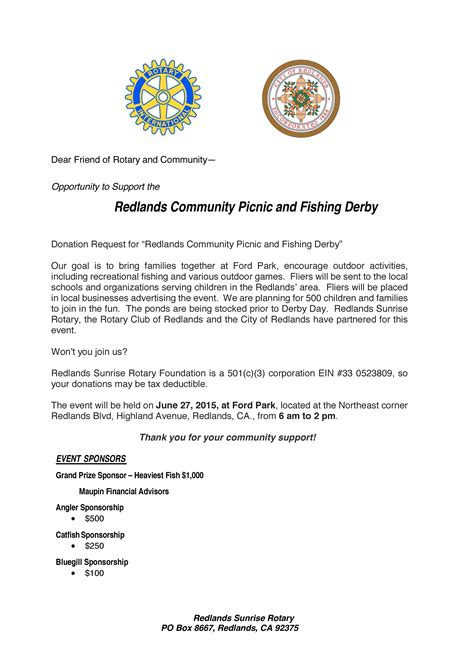 Fishing Sponsorship Template Redlands Rotary Club Let S Go Fishing
