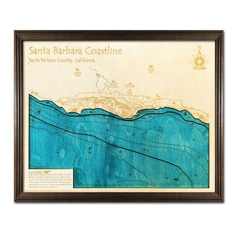santa barbara woodworking santa barbara ca 3 d nautical wood chart on tahoe time