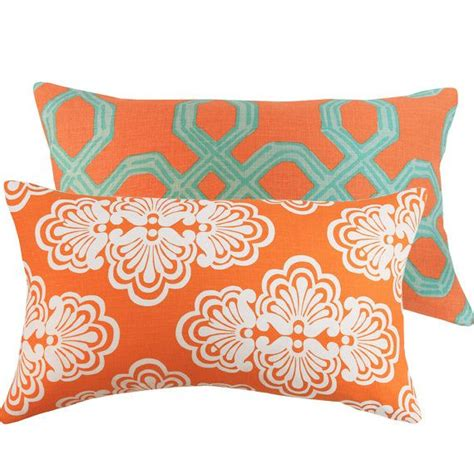 Lilly Pulitzer Throw Pillows by Orange Turquoise Pillow Cover 12x20 Lilly Pulitzer Lumbar