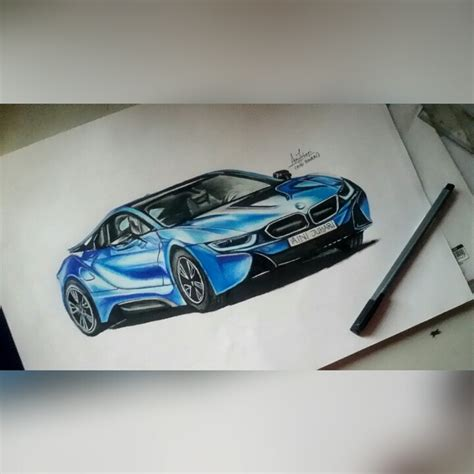 how to draw a car bmw i8 step by step easy bmw i8 drawing new cars gallery