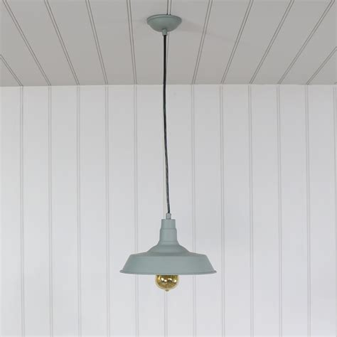 grey vintage industrial barn style pendant light fitting