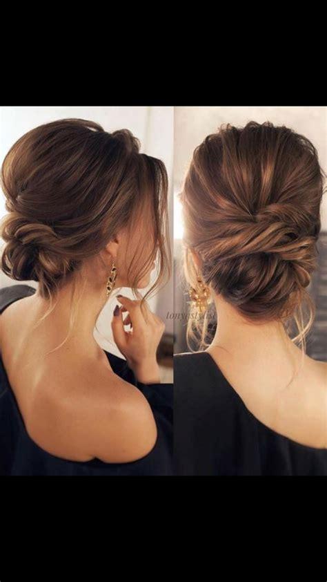 Soft Pin Up Hairstyles by Pretty Soft Low Bun Updo Bridal Hair Wedding Hair Hair