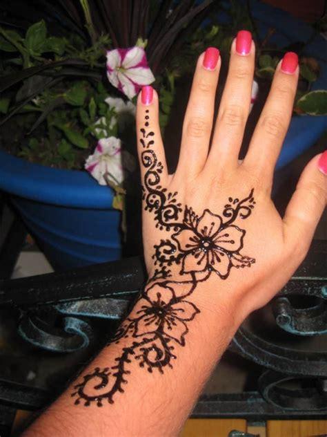 henna tattoo hand anf nger leichte henna muster henna selber machen