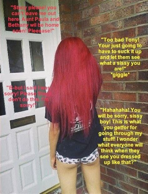 red hair sissy pink and frilly suck it up sissy captions pinterest