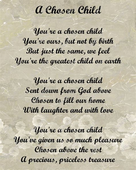 items similar to adoption poem for adopted child digital