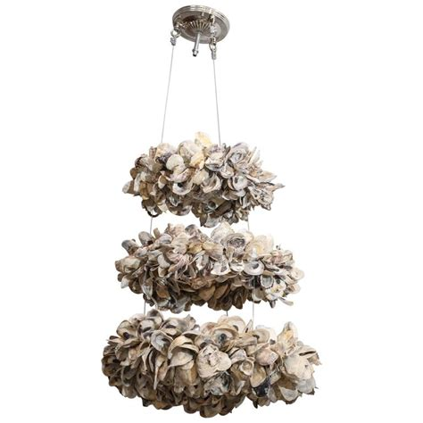 Oyster Chandelier Antica Collection New Design Three Tier Oyster Chandelier