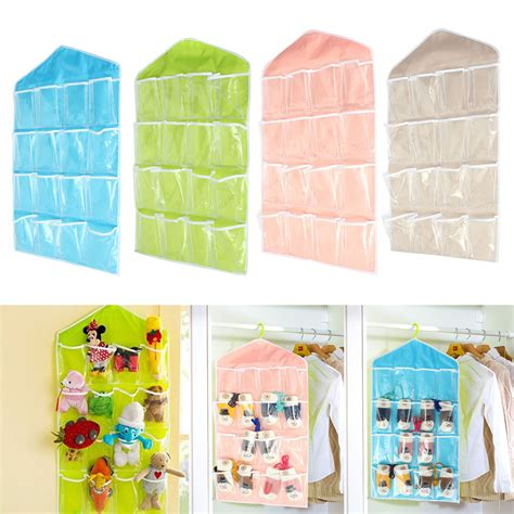 Hanging Door Organizer by Storage Bag 16 Pocket Door Hanging Bag Shoe Socks