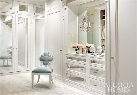 Built In Walk In Closets by Mirrored Doors Traditional Closet Atlanta Homes Lifestyles