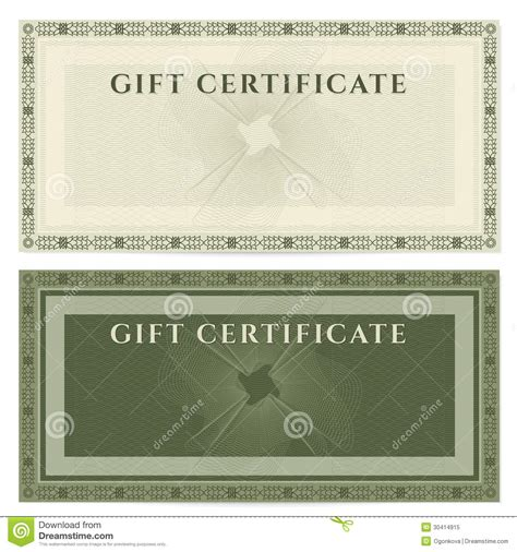 vintage gift certificate template vintage voucher coupon template with border royalty free