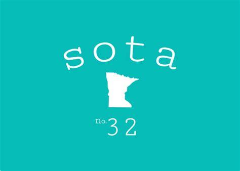 Minnesota The 32nd State by Minnesota 32nd State Print Print By Sota Clothing