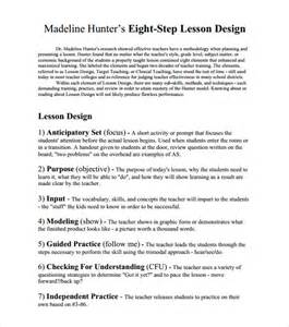 sample madeline hunter lesson plan 10 documents in pdf