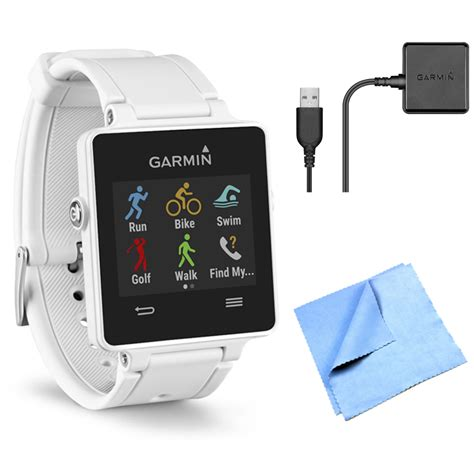 Smartwatch Vivo garmin vivoactive gps smartwatch white 010 01297 01 charging clip bundle ebay