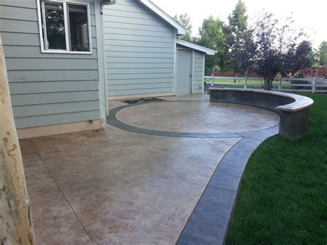 decorative concrete patios transitional patio