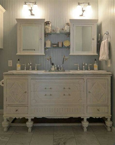 Buffet turned vanity!   Bathroom Ideas   Pinterest