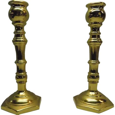 candlestick l solid brass candlestick holder virginia metalcrafters from