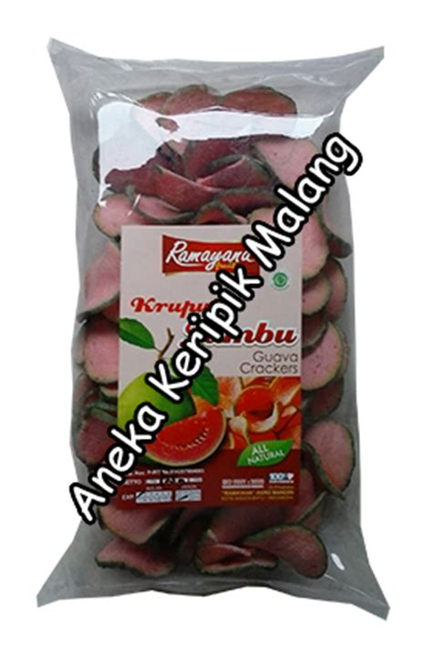 kerupuk buah jambu merah keripik kripik oleh oleh