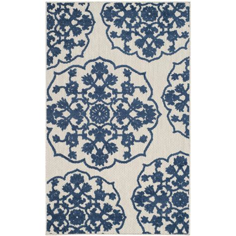 Royal Blue Outdoor Rug Safavieh Cottage Indoor Outdoor Light Gray Royal Blue 3 Ft 3 In X 5 Ft 3 In Area Rug Cot912b