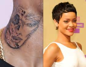 did chris brown tattoo rihanna s face on his neck ny