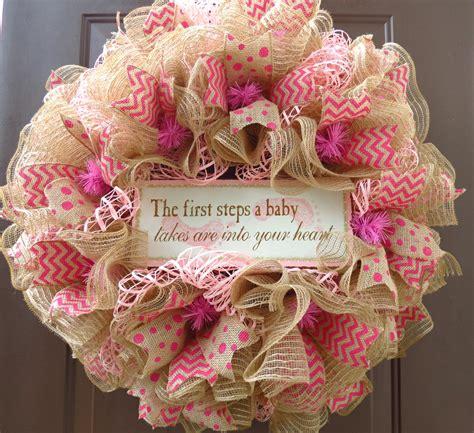 wreath baby shower baby shower deco mesh wreath baby s room deco mesh