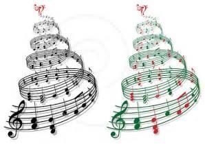 christmas tree with music notes printable christmas card