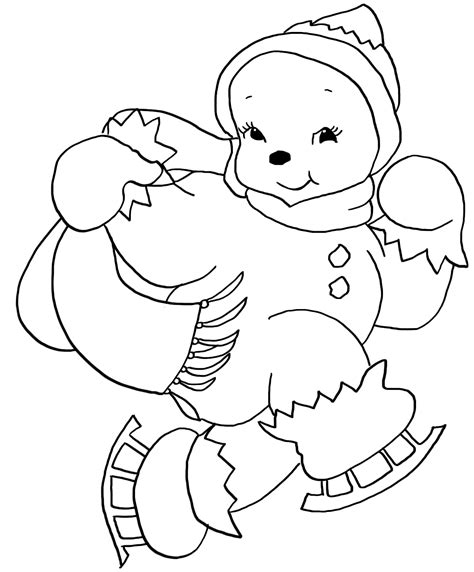 cute snowman coloring page christmas coloring pages
