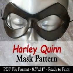 harley quinn mask template mask pattern harley quinn by angelic artisan the