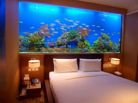 aquarium bed headboard beautiful home aquarium design ideas