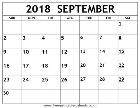 printable calendar september 2018 printable 2018 september calendar print 2018 calendar