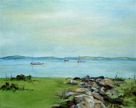 Cape Cod Photo And Art - cape cod boats painting by judith rhue