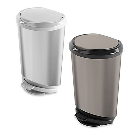 bed bath and beyond garbage cans 40 liter step on trash can bed bath beyond
