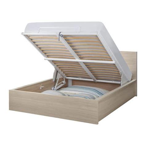 struttura letto malm malm struttura letto con contenitore impiallacciato