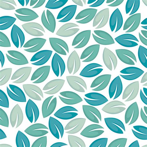 leaf pattern seamless set of seamless leaves pattern vector 05 vector pattern