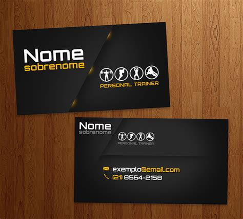 personal trainer business card template business card personal trainer on behance