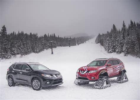 nissan winter winter ready nissan rogue warrior concept rides on snow tracks
