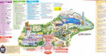 disney california adventure printable park map